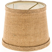 Mini Burlap Lamp Shade
